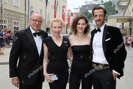 Stock Picture of Max von Thun, Friedrich Von Thun, Sunnyi Melles and daughter