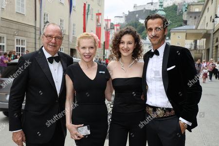 Max von Thun, Friedrich Von Thun, Sunnyi Melles and daughter