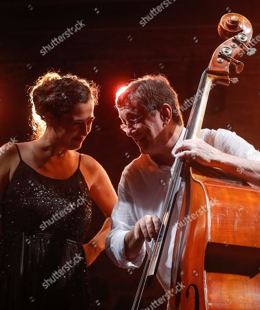 Silvia Perez Cruz (L) and bassist Javier Colina (R) perform during the 54th San Sebastian Jazz Festival, in San Sebastian, Basque Country, Spain, 28 July 2019.