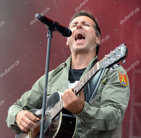 Lead singer Raine Maida of the band Our Lady Peace performs live at Fox Cities Stadium in Appleton, Wisconsin