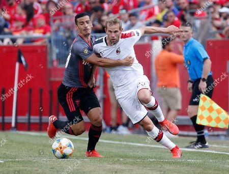 Editorial photo of Benfica AC Milan Soccer, Foxborough, USA - 28 Jul 2019