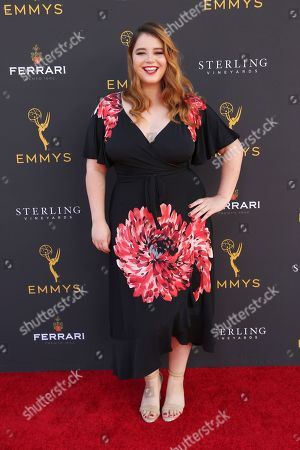 Stock Image of Kether Donohue arrives at the 71st Los Angeles Area Emmy Awards at the Saban Media Center at the Television Academy's North Hollywood, Calif. headquarters on