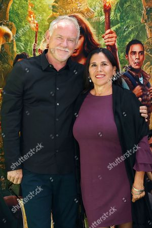 John Debney (L) and Germanine Franco (R) arrive for the premiere of 'Dora and the Lost City of Gold' at the Regal Cinemas LA Live in Los Angeles, California, USA, 28 July 2019. The movie opens in the USA on 09 August 2019.