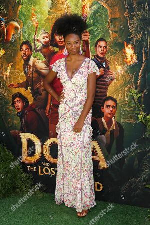 Stock Photo of Reiya Downs arrives for the premiere of 'Dora and the Lost City of Gold' at the Regal Cinemas LA Live in Los Angeles, California, USA, 28 July 2019. The movie opens in the USA on 09 August 2019.