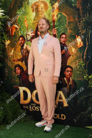 James Bobin arrives for the premiere of 'Dora and the Lost City of Gold' at the Regal Cinemas LA Live in Los Angeles, California, USA, 28 July 2019. The movie opens in the USA on 09 August 2019.
