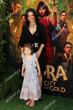 Navi Rawat arrives for the premiere of 'Dora and the Lost City of Gold' at the Regal Cinemas LA Live in Los Angeles, California, USA, 28 July 2019. The movie opens in the USA on 09 August 2019.