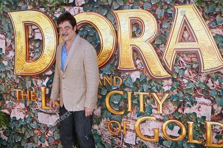 Benicio Del Toro arrives for the premiere of 'Dora and the Lost City of Gold' at the Regal Cinemas LA Live in Los Angeles, California, USA, 28 July 2019. The movie opens in the USA on 09 August 2019.