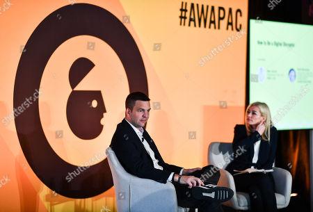 Ben Carter (Managing Director, Menu Log) and Ruth Mortimer (Managing Director, Global Education and Development, Advertising Week)