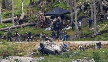 Editorial photo of James Bond film set, Aviemore, Scotland, UK - 28 Jul 2019