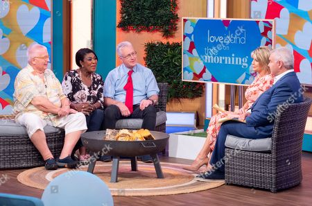Christopher Biggins, Rustie Lee and Lembit Opik with Eamonn Holmes and Ruth Langsford