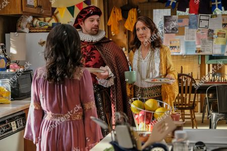 Georgia Flood as Amanda Klein, Rory O'Malley as Brian Dooley and Seana Kofoed as Maggie