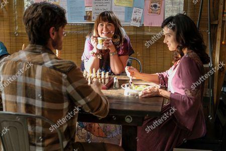 Lucas Neff as David Poland, Mary Hollis Inboden as Delilah and Georgia Flood as Amanda Klein