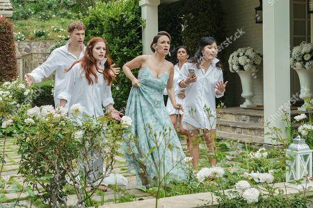 Tommy Dorfman as Nick, Mimi Gianopulos as Morgan, Erin Pineda as Helen, Rana Roy as Farah and Helen Madelyn Kim as Lexi