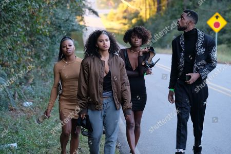 Stock Picture of Gail Bean as Nadine, Zazie Beetz as Van, Danielle Deadwyler as Tammi and Lakeith Stanfield as Darius