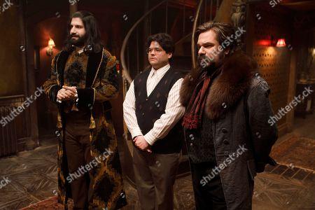 Kayvan Novak as Nandor, Harvey Guillen as Guillermo and Matt Berry as Laszlo