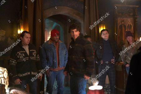 Stock Image of Bobby Wilson as Marcus Werewolf, Arj Barker as Arjan/Werewolf Leader and Kelly Penner as Preppy Werewolf