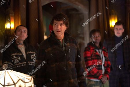 Stock Picture of Bobby Wilson as Marcus Werewolf, Arj Barker as Arjan/Werewolf Leader, Hannan Younis as Ange Werewolf and Kelly Penner as Preppy Werewolf
