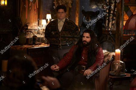 Harvey Guillen as Guillermo and Kayvan Novak as Nandor
