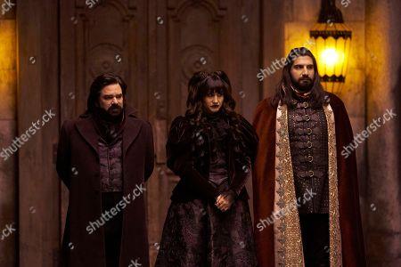 Matt Berry as Laszlo, Natasia Demetriou as Nadja and Kayvan Novak as Nandor