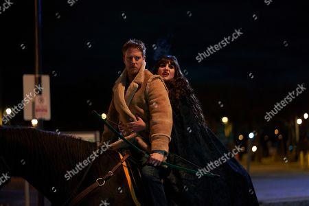Stock Image of Jake McDorman as Gregor/Jeff and Natasia Demetriou as Nadja