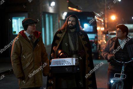 Mark Proksch as Colin Robinson, Kayvan Novak as Nandor and Harvey Guillen as Guillermo