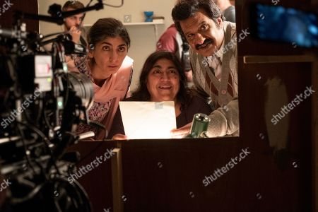 Meera Ganatra as Noor, Gurinder Chadha Director and Kulvinder Ghir as Malik