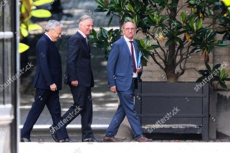 Stock Image of King Philippe of Belgium, Didier Reynders, Johan Vande Lanotte