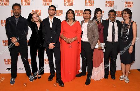 Stock Picture of Sarfraz Manzoor, Nell Williams, Viveik Kalra, Gurinder Chadha, Aaron Phagura, Meera Ganatra, Kulvinder Ghir and Jane Barclay
