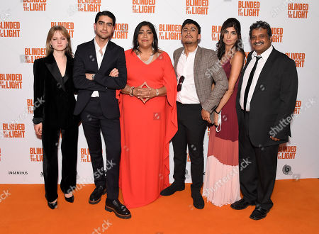 Stock Image of Nell Williams, Viveik Kalra, Gurinder Chadha, Aaron Phagura, Meera Ganatra and Kulvinder Ghir