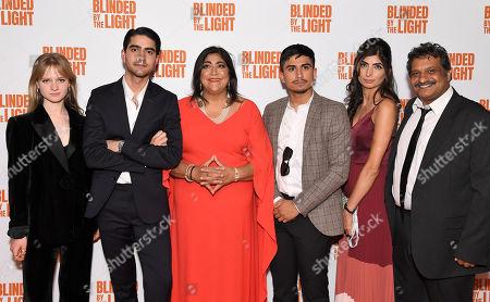 Stock Photo of Nell Williams, Viveik Kalra, Gurinder Chadha, Aaron Phagura, Meera Ganatra and Kulvinder Ghir