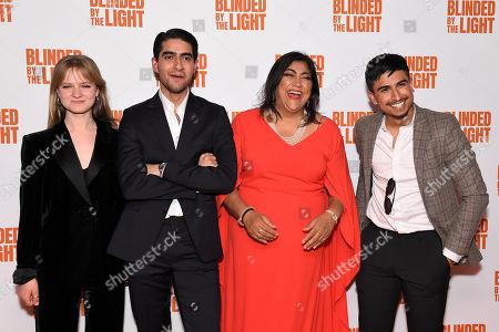 Nell Williams, Viveik Kalra, Gurinder Chadha and Aaron Phagura