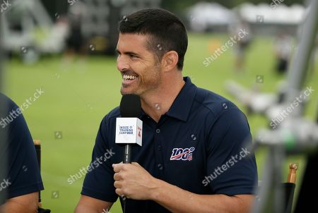 NFL network analyst David Carr during the Oakland Raiders football training camp, in Napa, Calif