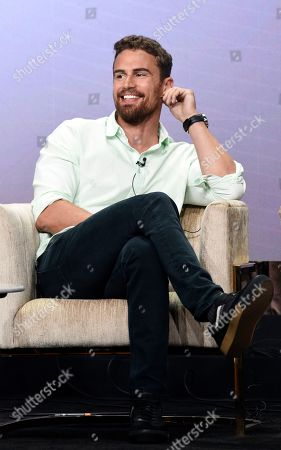 "Stock Picture of Theo James, a cast member in the PBS Masterpiece series ""Sanditon,"" takes part in a panel discussion during the 2019 Television Critics Association Summer Press Tour at the Beverly Hilton, in Beverly Hills, Calif"