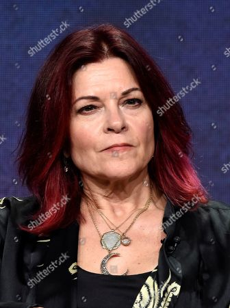"Stock Image of Country music performer Roseanne Cash, featured in the upcoming PBS documentary series ""Country Music,"" takes part in a panel discussion during the 2019 Television Critics Association Summer Press Tour at the Beverly Hilton, in Beverly Hills, Calif"