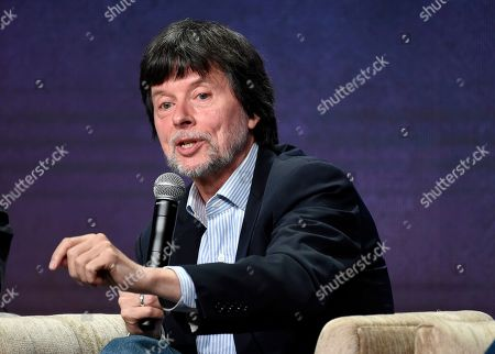 "Stock Picture of Ken Burns, director of the upcoming PBS documentary series ""Country Music,"" takes part in a panel discussion during the 2019 Television Critics Association Summer Press Tour at the Beverly Hilton, in Beverly Hills, Calif"