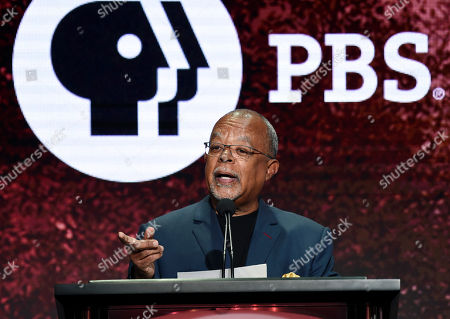 """Dr. Henry Louis Gates Jr., host and executive producer of the PBS series """"Finding Your Roots,"""" addresses the audience during the 2019 Television Critics Association Summer Press Tour at the Beverly Hilton, in Beverly Hills, Calif"""
