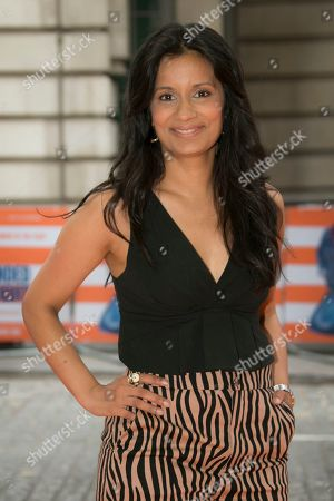 Sonali Shah poses for photographers upon arrival at the screening for Blinded By The Light, in London