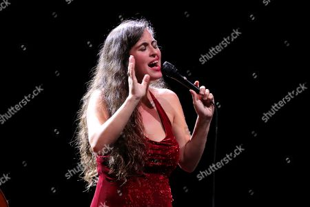 Silvia Perez Cruz performs on stage during their concert in the framework of the Universal Music Fest at the Spanish Royal Theater in Madrid, Spain, 29 July 2019.
