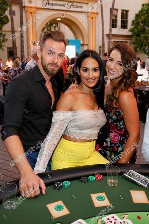 Artem Chigvintsev, Nikki Bella and Victoria Arlen