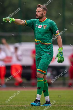 Leece goalkeeper Gabriel Vasconcelos Ferreira