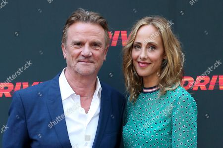 """Nick Hamm, Kim Raver. Director Nick Hamm, left, and Kim Raver attend the LA Premiere of """"Driven"""" at the ArcLight Hollywood, in Los Angeles"""
