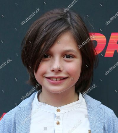 """Asher Miles Fallica attends the LA Premiere of """"Driven"""" at the ArcLight Hollywood, in Los Angeles"""