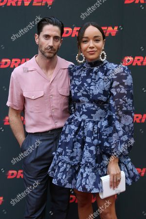 """Iddo Goldberg, Ashley Madekwe. Iddo Goldberg, left, and Ashley Madekwe attend the LA Premiere of """"Driven"""" at the ArcLight Hollywood, in Los Angeles"""