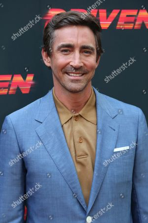 """Lee Pace attends the LA Premiere of """"Driven,"""" at the ArcLight Hollywood, in Los Angeles"""