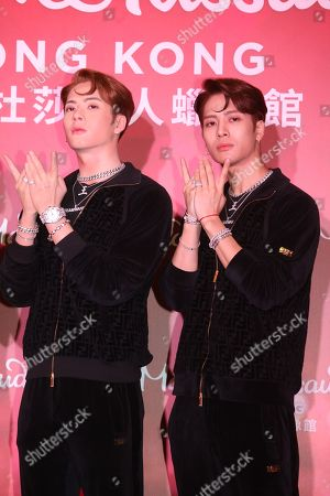 GOT7 Jackson with his wax figure