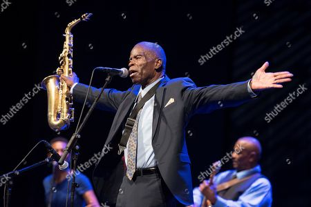 Stock Picture of US jazz singer and saxophonist Maceo Parker performs as part of the Splendid Festival Menorca 2019 at Principal theater in Mahon, Menorca island, Spain, late 29 July 2019 (issued 30 July 2019). The festival runs from 06 July to 08 August 2019.
