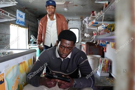 Malcolm Mays as Kevin Hamilton and Damson Idris as Franklin Saint