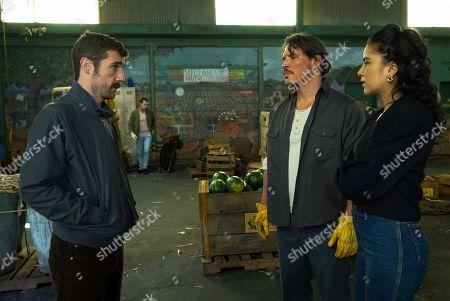 Carter Hudson as Teddy McDonald, Sergio Peris-Mencheta as Gustavo Zapata and Emily Rios as Lucia Villanueva