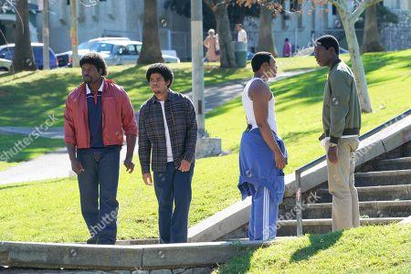Amin Joseph as Jerome Saint, Isaiah John as Leon Simmons, Malcolm Mays as Kevin Hamilton and Damson Idris as Franklin Saint