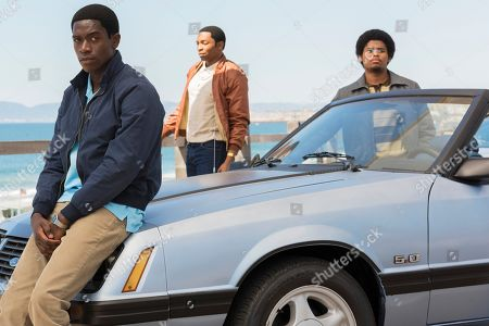 Damson Idris as Franklin Saint, Malcolm Mays as Kevin Hamilton, Isaiah John as Leon Simmons